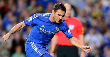 Lampard makes history as Blues maul Villa