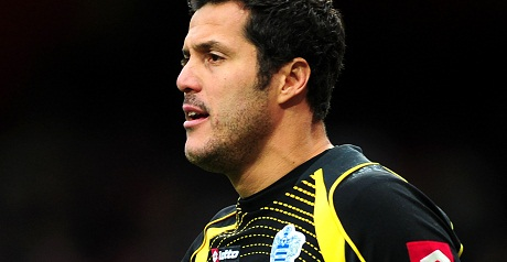 QPR goalkeeper Julio Cesar.