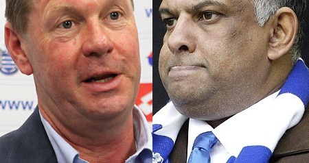 Philip Beard and Tony Fernandes of QPR