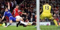 Van Persie struck for United in the final seconds