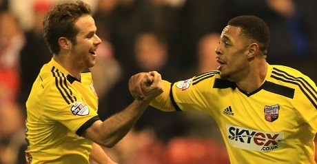 Andre Gray netted Brentford's second goal at the City Ground