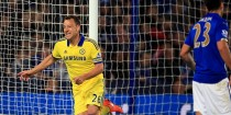 Skipper John Terry put Chelsea ahead against Leicester.