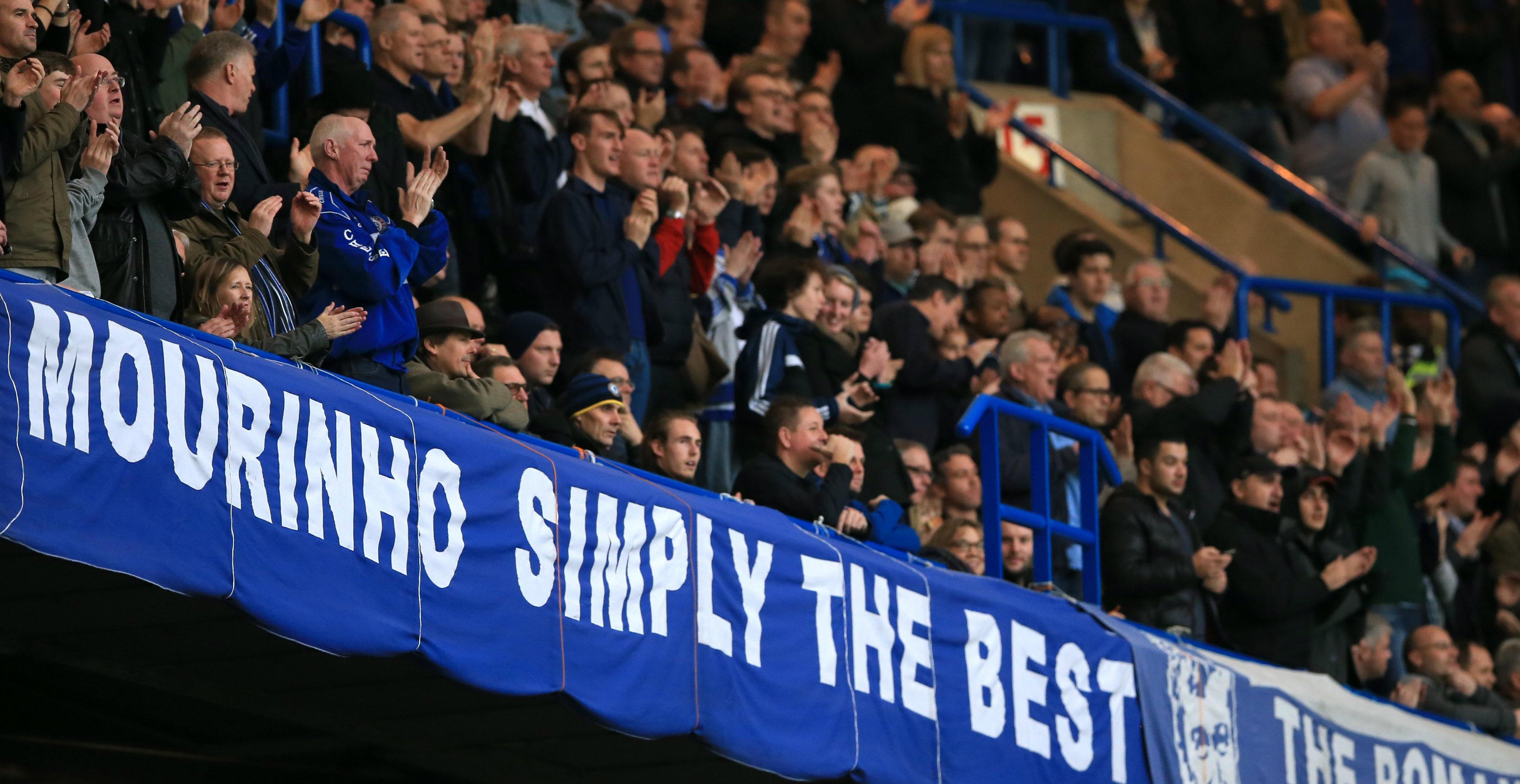 Mourinho's sacking last season upset many Chelsea supporters