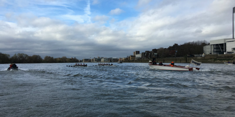 Oxford handle rough conditions ahead of Women's Boat Race