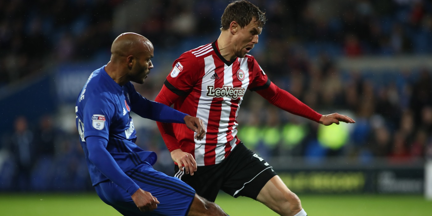 Brentford's 10-match unbeaten run ended at Cardiff