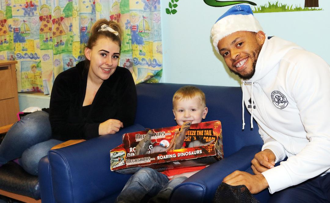 QPR players bring festive cheer to children at Hillingdon Hospital