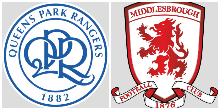 QPR v Middlesbrough line-ups: Same again for R's, defender back, no Hall or Perch, Boro make change