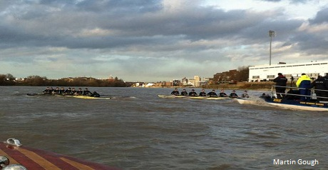 Boat Race rookies learn ropes