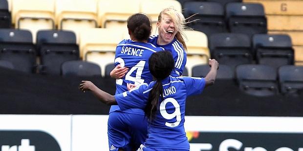 Davison scores two in Chelsea Ladies win