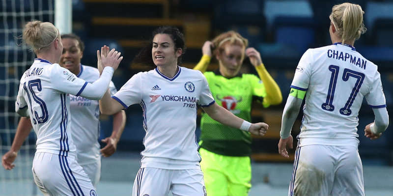 Chelsea Ladies top after thrashing Reading