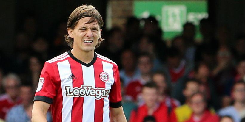 Brentford striker Vibe in talks over move to China