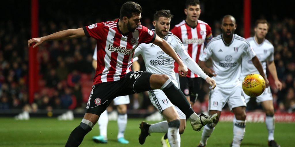 Brentford beat 10-man Fulham in absorbing derby
