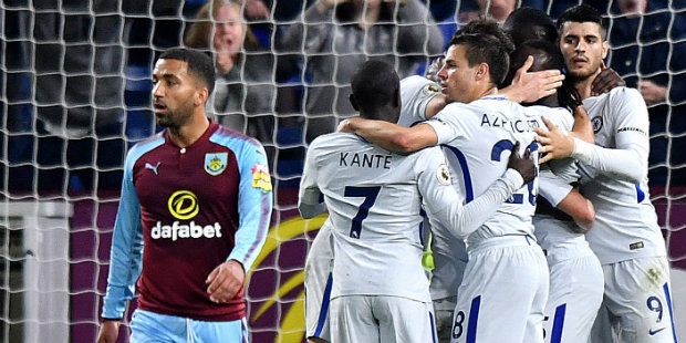 Moses' goal gives Chelsea victory at Burnley