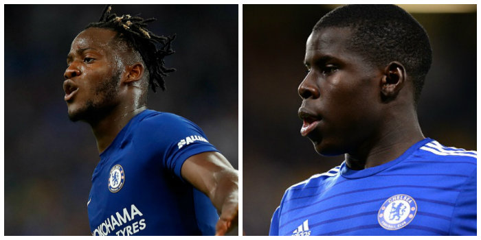 Chelsea duo Michy Batshuayi and Kurt Zouma have both left Chelsea on season-long loans