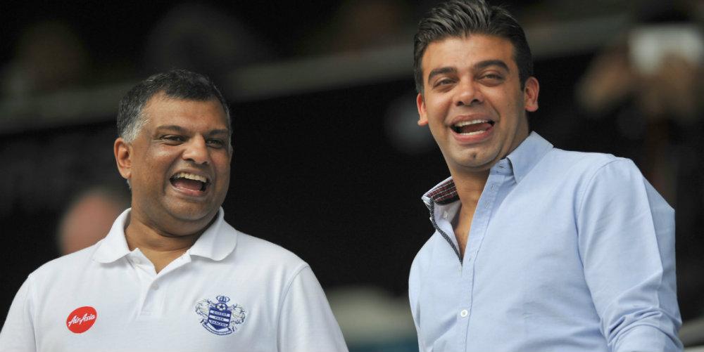 QPR: Tony Fernandes and Amit Bhatia