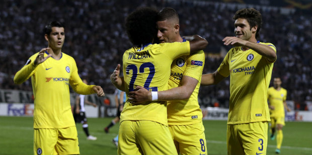 Captain Willian gives Chelsea victory in Greece
