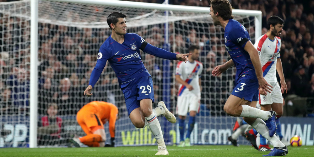 Two more for Morata as Chelsea see off Palace