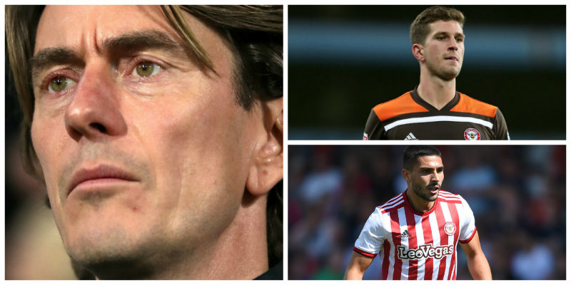 Brentford: Thomas Frank, Chris Mepham and Neal Maupay