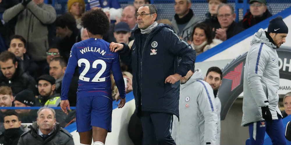Willian is 'very important' but can improve, says Sarri