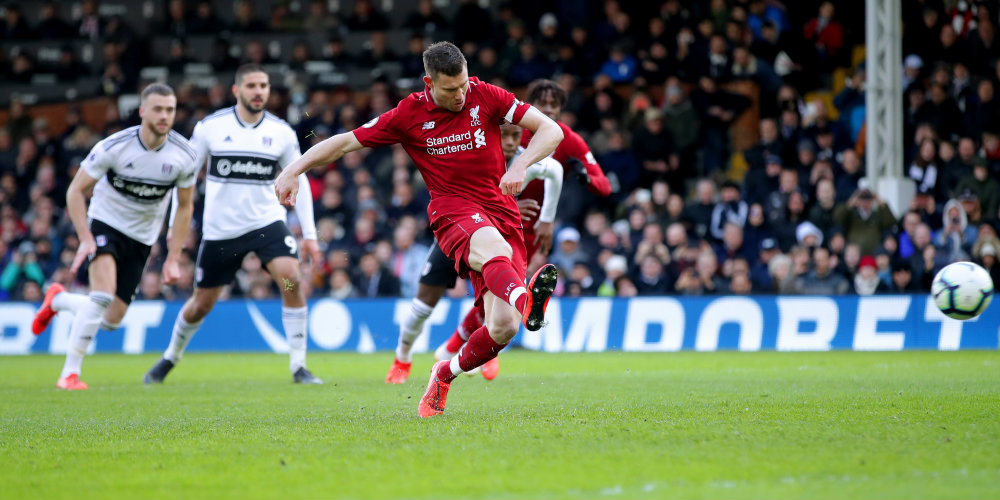 Milner penalty nudges Fulham closer to relegation
