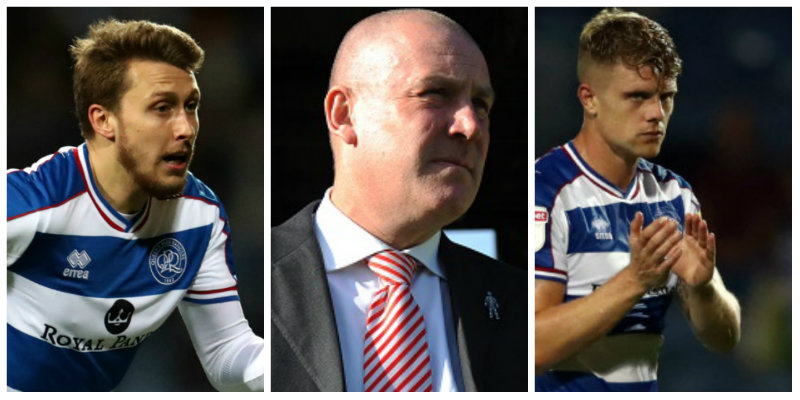 QPR: Mark Warburton, Luke Freeman and Jake Bidwell