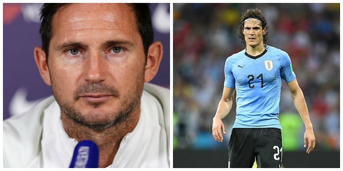 Lampard suggests Chelsea might go for Cavani