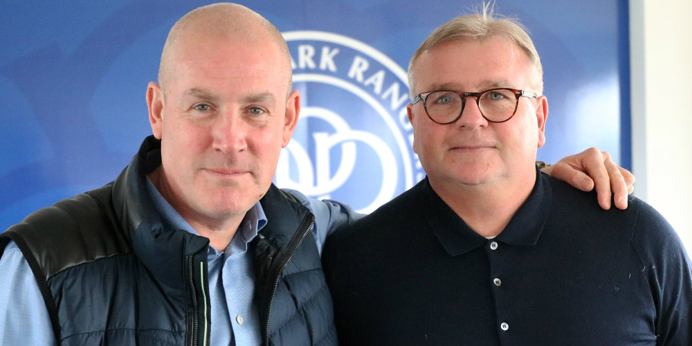 QPR manager Mark Warburton and coach Neil Banfield