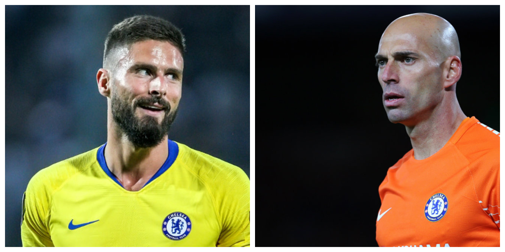 Chelsea extend contracts of Giroud and Caballero