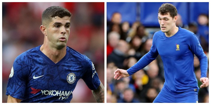 Chelsea: Christian Pulisic and Andreas Christensen
