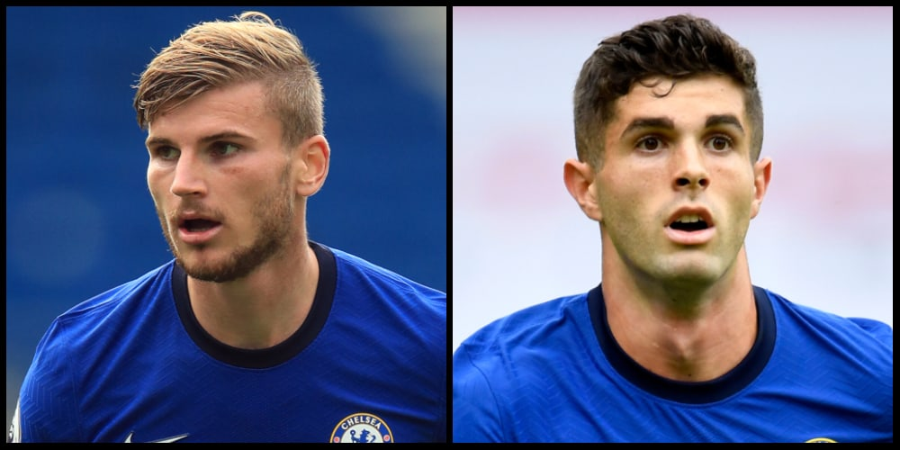 Chelsea: Timo Werner and Christian Pulisic