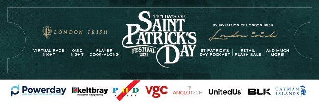 London Irish to host virtual St Patrick's Day events